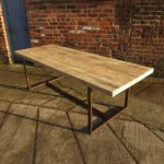 Reclaimed Industrial Chic 8-10 Seater Dining Table Copper - Bar Cafe Restaurant Furniture Steel Solid Wood Metal Made to Measure 423