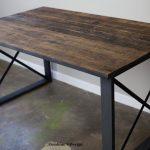 Reclaimed Wood Desk. Industrial Desk. Modern Desk. Reclaimed Wood and Steel Desk.  Rustic Retail Display. Customization Available