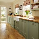 1800 Style Kitchen | Green-painted-kitchen-galley-furniture-Beautiful-Kitchens-H...