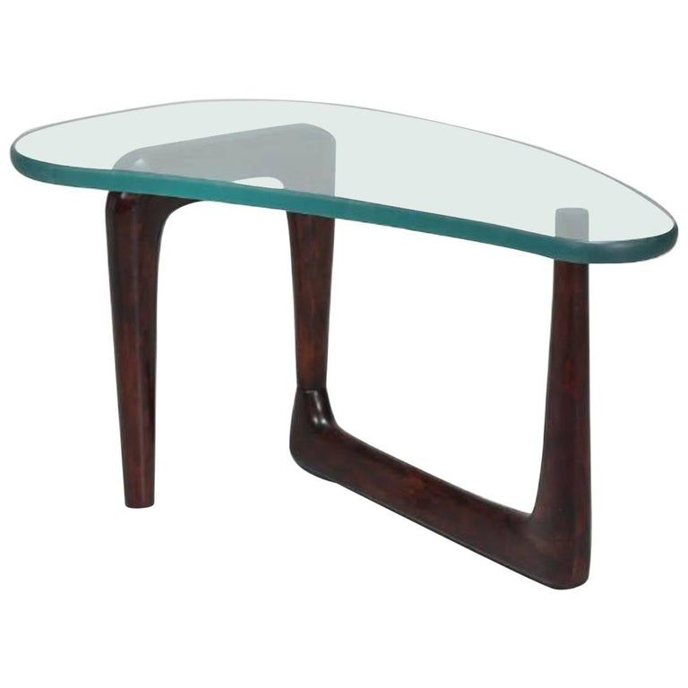 1950s, Italian Coffee Table in Style of Fontana Arte, Amazing 1″ Thick Glass Top