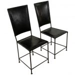 1stdibs Side Chair - Seats Backs French Mid-Century Modern Leather, Iron