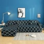 2 pcs Corner Sofa Cover Elastic Couch Cover for Sofa Sectional L Shaped Sofa Cov...