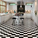 2 places to buy black and white checkerboard floor tile - in resilient vinyl sheet - Retro Renovation