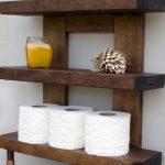20 Extraordinary Rustic Bathroom Wall Shelves And Organization Ideas