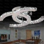 2019 Fashion Style Modern Stainless Steel LED Ceiling Light Fashion Brief Living Room Ceiling Lamps LED Clear / Amber Crystal Lighting LLFA  From Volvo Dh2010, $155.88 | DHgate.Com