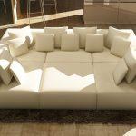 206 Modern White Bonded Leather Sectional Sofa | Las Vegas Furniture Store | Modern Home Furniture | Cornerstone Furniture