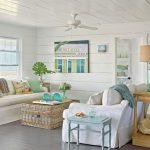 25 Small Cozy Beach Cottage Style Living Room Interior Design & Decor Ideas