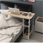 250307 / Home bed with simple desk / High quality desktop / Thicker tube / Folding mobile small desk / lazy bedside laptop desk /