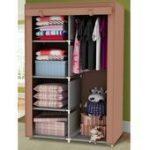 34 Portable Wardrobe Clothes Storage Bedroom Closet Organizer With Shelves