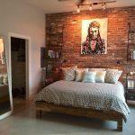 36+ Comfy Master Bedroom Brick Wall Decoration Ideas