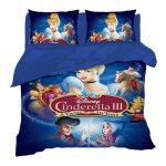 3D Disney Bedding Twin Size Cinderella Princess Duvet Cover 3 Pieces B