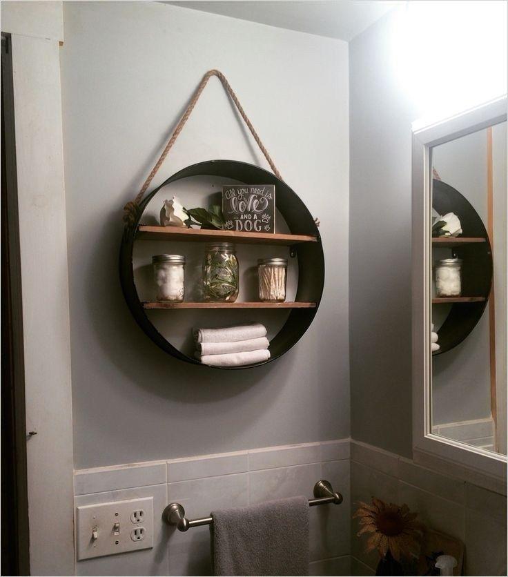 44 Creative Ideas Rustic Bathroom Walls Shelf That Will Make Your Bathroom Stunning – Gongetech