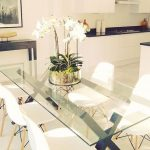 46 Elegant Dining Room Glass Table Décor Ideas - HOMYFEED