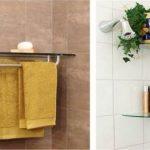 58 Ideas For Bathroom Shelves Floating Glass #bathroom