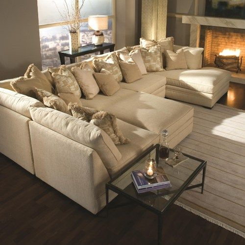 7100 Godfrey Contemporary U-Shape Sectional Sofa with Chaise by Huntington House at Belfort Furniture