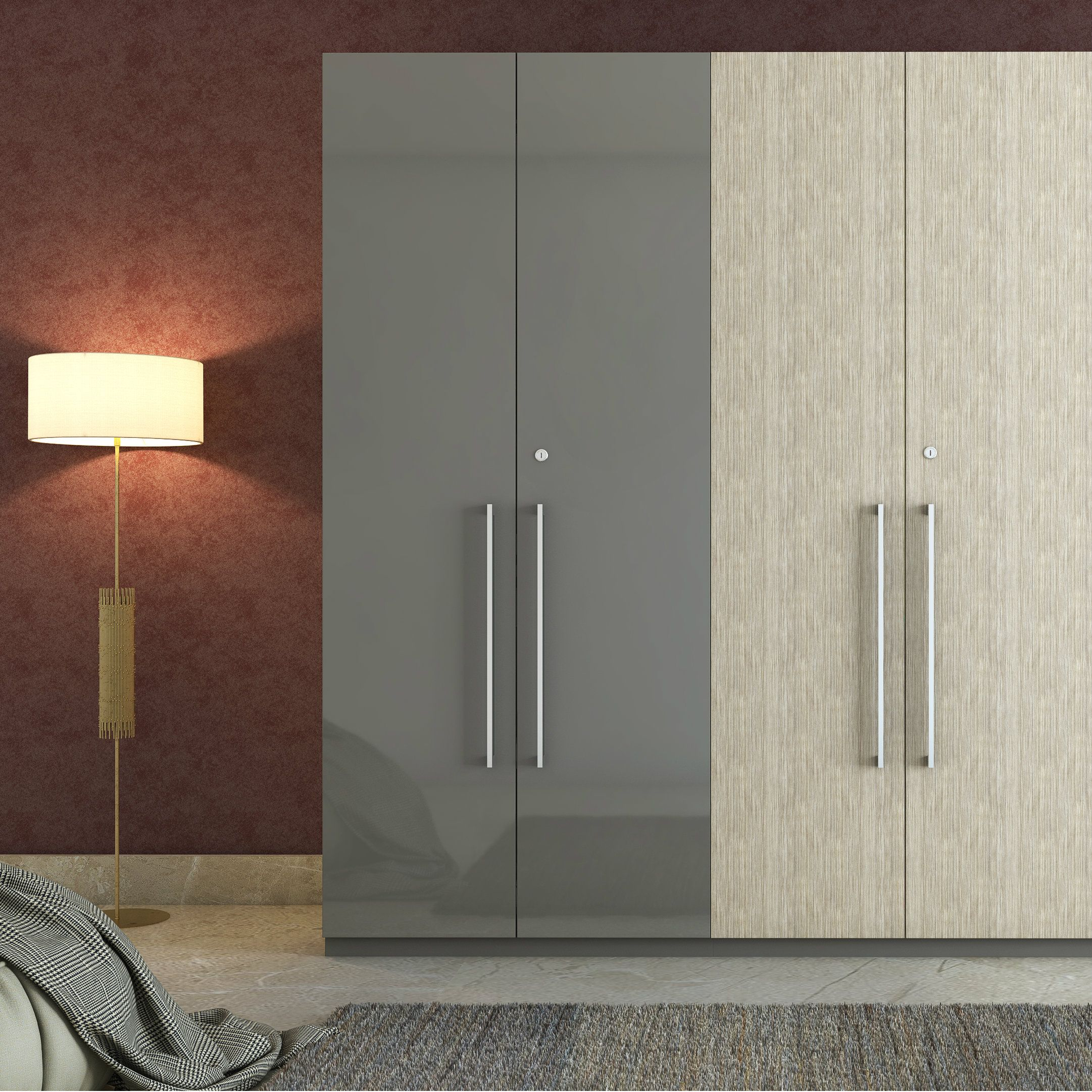 A dual tone swing door wardrobe for segregating your essentials
