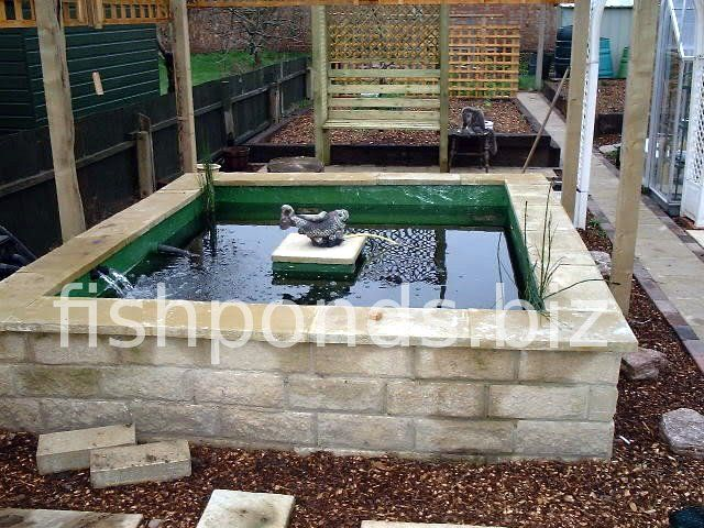 Above Ground Pond Designs   Building a Koi pond – finished pond, picture 1