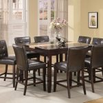 Acme Britney Brown Faux Marble Top Counter Height Dining Set in Espresso by Dining Rooms Outlet