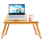 Adjust Height Nature Bamboo Folding Laptop Computer Notebook Table Bed Desk Tray Stand - Walmart.com