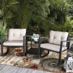 Alcott Hill Jerrod 3 Piece Rattan Seating Group with Cushions | Wayfair
