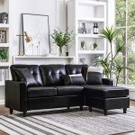 Amazon.com: HONBAY Convertible Sectional Sofa Couch Leather L-Shape Couch with Modern Faux Leather Sectional for Small Space Apartment Brown: Kitchen & Dining