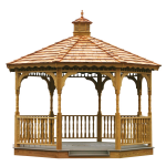 Amish Wooden Gazebo Kits with Step By Step Instructions