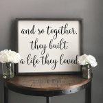 And So Together | Wood Signs | Wedding Gift | Couples Gift | Wedding Sign | Farmhouse Sign | Quotes | Bedroom Decor | Love | Shabby Chic