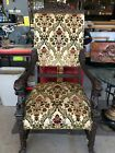 Antique carved wooden arm chair - amazing condition! #Antique