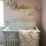 Baby Girl Nursery with pink and gold theme
