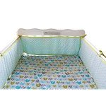 Baby Safe Crib Bumper Pads for Standard Cribs Machine Washable Padded Crib Liner Thick Paddin...