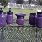 Ball Mason Jar Bathroom Set - Eggplant Purple and Black - Full Bathroom Set or CHOOSE COLOR - Farmhouse Bathroom - Wedding Gift