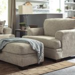 Barrish Contemporary Chair and a Half & Ottoman by Benchcraft at John V Schultz Furniture