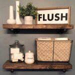 Bathroom Flush Sign, Funny Bathroom Sign, Farmhouse Style Decor, Kids Bathroom, Farmhouse