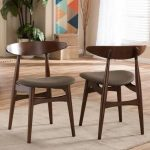 Baxton Studio Flamingo 5-Piece Dark Brown Fabric Upholstered Dining Set 6138-6139-HD - The Home Depot