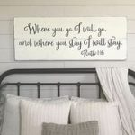 Bedroom wall decor   You will forever be my always sign   wood signs   master bedroom wall decor   bedroom wall art