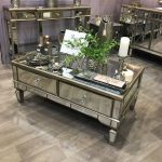 Belfry 4 Drawer Champagne Gold Mirrored Coffee Table | Picture Perfect Home