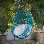 Belham Living Bloom Resin Wicker Hanging Egg Chair with Optional Stand - Walmart.com
