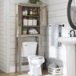 Better Homes & Gardens, Modern Farmhouse Northampton Over the Toilet Bathroom Space Saver, Rustic Gray Finish - Walmart.com