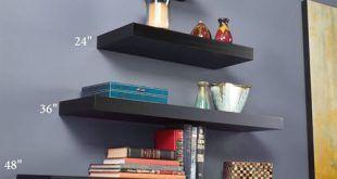 Black Floating Wall Shelves – TopDekoration.com