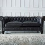 Black Leather chesterfield Sofa from The Chesterfield Company. Also available in...