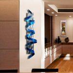 Blue Abstract Metal Wall Sculpture - Modern Metal Twist Art - Wall Hanging - Home Decor - Wall Accent - Blue Hurricane by Jon Allen