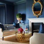 Blue sofa, blue furniture, blue decor, living room, decor, room makeover, modern...