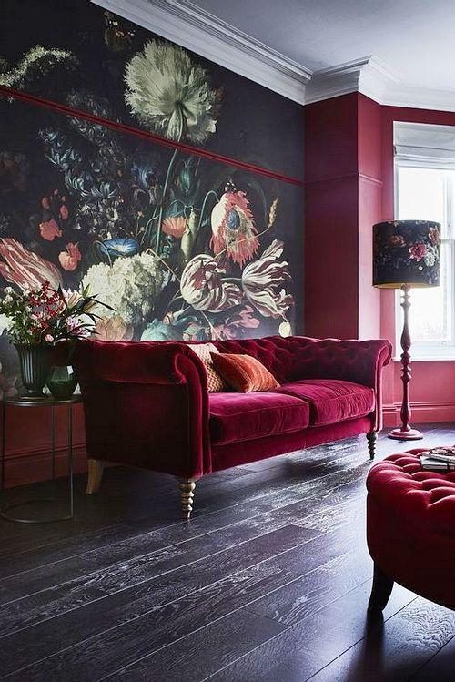 Bold living room colors   modern   #livingroom #velvet #flowers