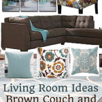 Brown Sectional Sofa Plus Blue Living Room Inspiration - Home Decor Muse