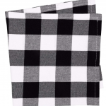Buffalo Check 100% Cotton Cloth Black White Napkin Set of 6 20 x 20 x 0.2 inches...