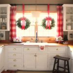 Buffalo check curtains add to the holiday charm and character of this festive fa...