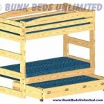 Bunk Bed Plan Stackable Twin over Twin with Trundle Bed or Large Storage Drawers