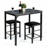 Buy Costway 3 Piece Counter Height Dining Set Faux Marble Table and 2 Chairs Kit… - https://pickndecor.com/interior