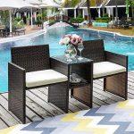 Buy LZ LEISURE ZONE Outdoor Furniture Set Patio Conversation Set Wicker Loveseats Rattan Sofa...
