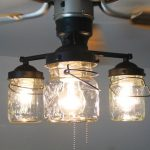 CEILING FAN Light KIT Vintage Canning Jar - Mason Jar Chandelier Lighting Fixture Flush Mount Pendant Farmhouse Kitchen Track  Lamp Goods
